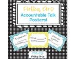 FREEBIE! Polka Dot Accountable Talk Posters!