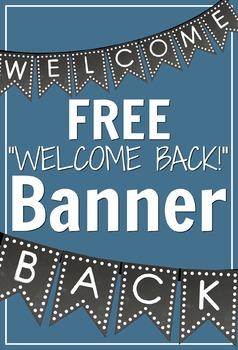 FREEBIE - Polka Dot Chalkboard Welcome Back Banner