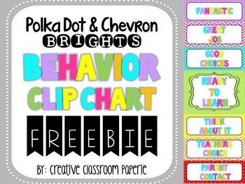 FREEBIE Polka Dot & Chevron Behavior Clip Chart {Behavior Management}