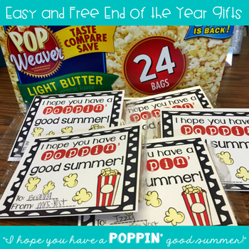 FREEBIE Popcorn End of the Year Cards