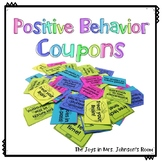 FREEBIE Positive Behavior Coupons