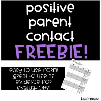 Positive Parent Contact Form