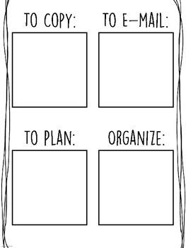 {FREEBIE} Post-It Planner