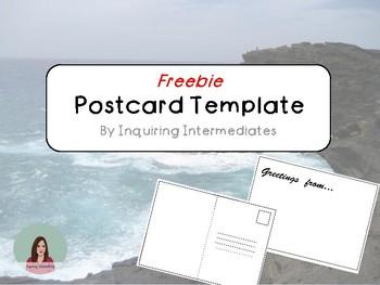 FREEBIE - Postcard Template