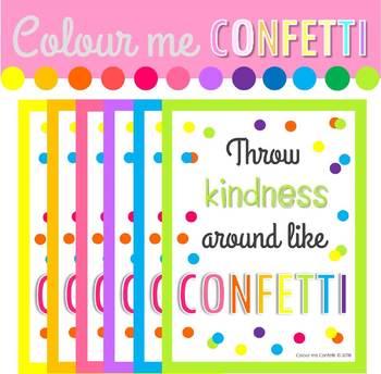 FREEBIE - Poster Throw kindness around like confetti.