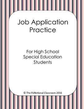 FREEBIE Practice Job Application