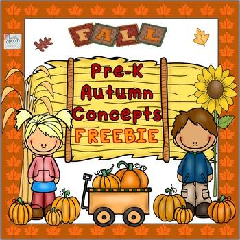 FREEBIE! Pre-K Autumn Time Concepts