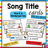 FREEBIE Pre-K and Kinder Printable Song Title Cards, Kodal