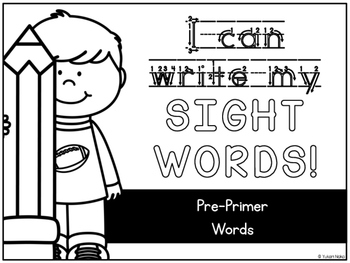 {FREEBIE} I Can Write My Sight Words - Pre-Primer Words