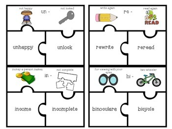 {{FREEBIE}} Prefix and Suffix Vocabulary Puzzles