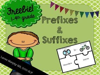 {{FREEBIE}} Prefix and Suffix Vocabulary Puzzles