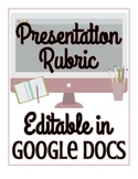 FREEBIE! Presentation Rubric - EDITABLE in Google Docs!