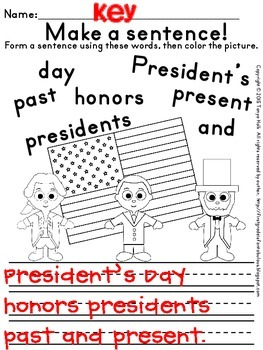 {FREEBIE} President's Day Busy Work for First Graders
