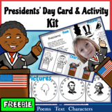 FREEBIE! Presidents' Day Card-Making Kit! Poems, Pictures,