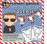 FREEBIE Presidents' Day Pennant Banner Worksheet
