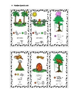 FREEBIE Preview Daring Dinosaurs Language Syntax Building Cards
