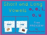 FREEBIE Preview: Short and Long Vowel Sorting Activity
