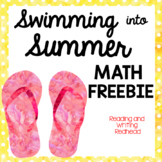 FREEBIE Preview of Swimming into Summer Math Pack