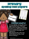{FREEBIE} Primary Printable Spelling Test Papers for New Years