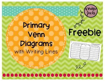 FREEBIE Primary Venn Diagram with Writing Lines