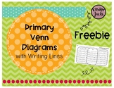 FREEBIE Primary Venn Diagram with Writing Lines