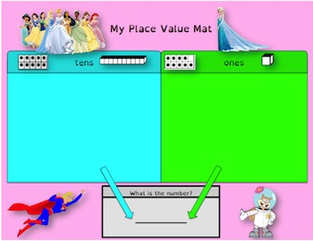 **FREEBIE** Princess Themed Place Value Mats