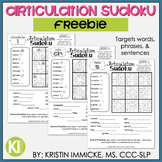 FREEBIE - Print and Go Articulation Sudoku - No Prep
