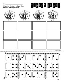 FREEBIE! - Print and Go! Thanksgiving Math and Literacy (NO PREP)