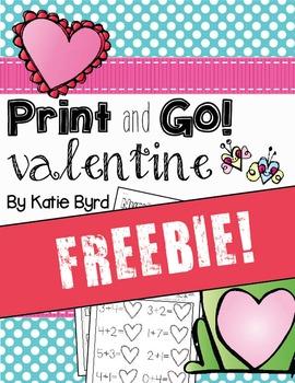 FREEBIE! Print and Go! Valentine Math and Literacy