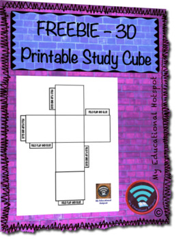 FREEBIE Printable 3D Study Cube