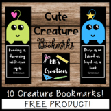 FREEBIE- Printable Cute Creature Bookmarks!