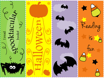 FREEBIE - Printable Halloween Bookmarks
