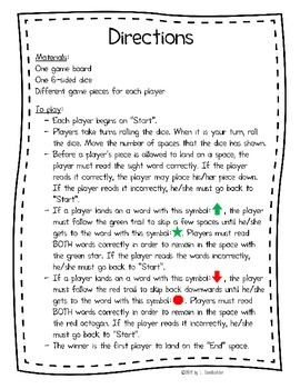"""{FREEBIE} Printable Sight Word Practice Game: """"Ups and Downs"""""""