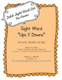 "{FREEBIE} Printable Sight Word Practice Game: ""Ups and Downs"""
