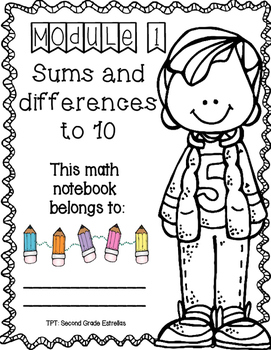 FREEBIE! Problem Set Notebook Covers for EurekaMath GRADE 1 (Spanish & English)