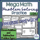 FREEBIE Problem Solving Eleven Addition and Subtraction Ty