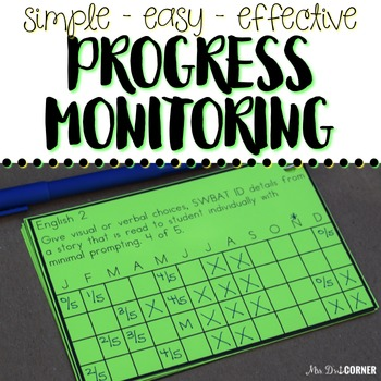 FREE Progress Monitoring for IEPs and RTI