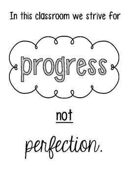 FREEBIE- Progress not Perfection Poster