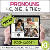 FREEBIE Pronouns: He, She, They BOOM CARD™ Deck - Distance