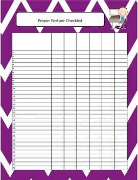 Keyboarding *FREEBIE* - Proper Posture Poster and Assessment Tool Set