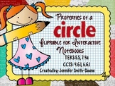 FREEBIE Properties of a Circle Flippable (Foldable) and Ex