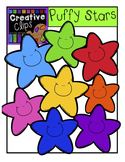 FREEBIE! Puffy Stars {Creative Clips Digital Clipart}