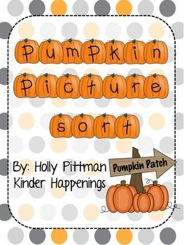 FREEBIE Pumpkin Picture Sort