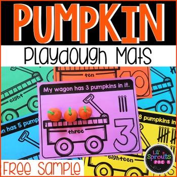 FREEBIE Pumpkin Playdough Counting Mats FREE SAMPLE