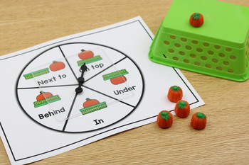 FREEBIE Pumpkin Positional Words: Pre-K and Kinder Pumpkins Themed Centers
