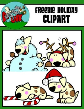 FREEBIE Puppie - Dogs Christmas / Winter Holiday Clipart - Graphics