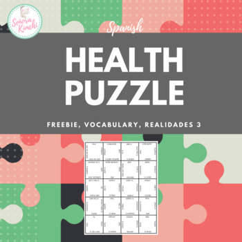 Health Vocabulary Puzzle (Realidades 3, Ch 3)