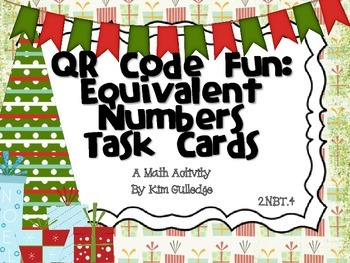 FREEBIE! QR Code Fun: Comparing Numbers Task Cards 2.NBT.4