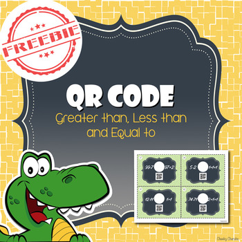 FREEBIE QR Code - Greater Than, Less Than, and Equal to