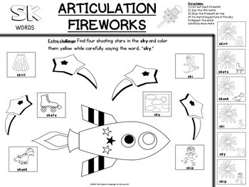 FREEBIE! QUICK PRINT CUT & PASTE 4TH OF JULY ARTICULATION - /S/ Blends